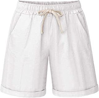 aa2aac9ca2a Femme Été Short Bermuda Casual Grande Taille Cordon De Serrage Élastique  Taille Sport Short avec des