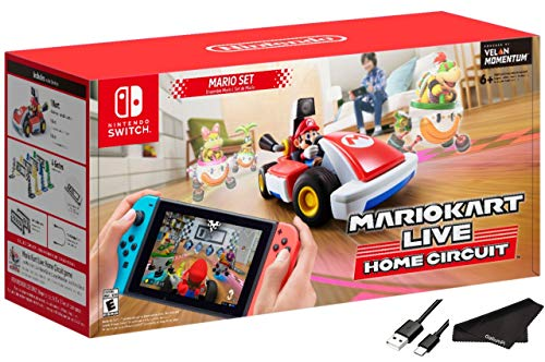 Newest Nintendo Mario Kart Live: Home Circuit - Mario Set Edition - RED - Family Holiday Gaming for Nintendo Switch or Nintendo Switch Lite with GalliumPi Accessories