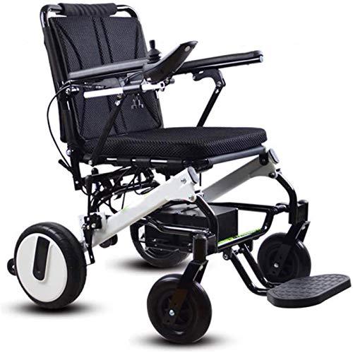 Silla de Ruedas eléctrica Plegable, Silla de ruedas, silla de ruedas 2020 Compacto eléctrica plegable, ligero silla de ruedas 20Kg batería de litio extraíble Barandilla ajustable 6 archivos ab