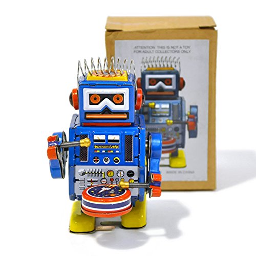 FANMEX - Fantastik - Robot Tambor hojalata diseño Vintage