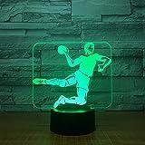 orangeww 3D Visual Illusion Lampe/Tour De Tambour/Volleyball / Dragon7 Couleur...