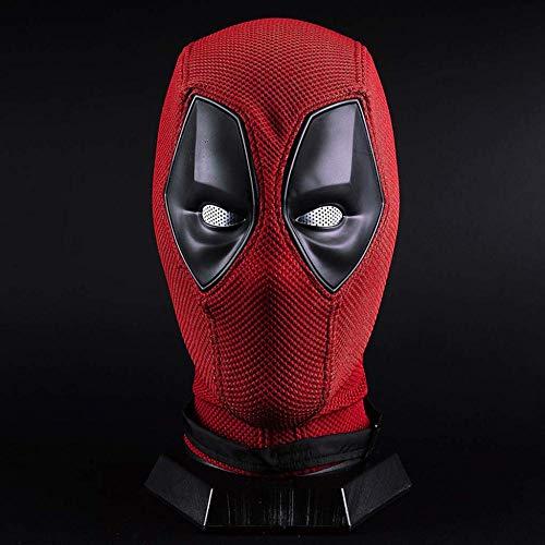X-Men Deadpool Casco De Máscara De Cara Completa Casco De Máscara De Halloween Para Hombres Adultos Accesorios De Rendimiento De Disfraces,Red Deadpool