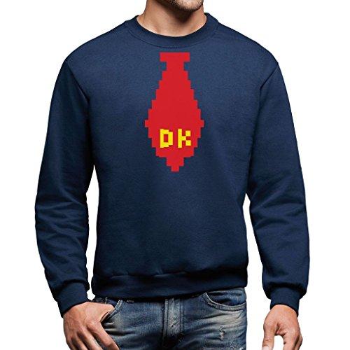 MUSH Sweatshirt Donkey Kong Krawatte - Games by Dress Your Style - Herren-XL Ultramarinblau