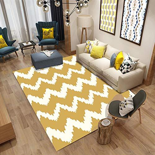 DLSM Teppich mit für die Küche oder Wohnzimmer,Wohnzimmer Kreative Einfache Nahtstichmuster Pflege Pflegeplatz Teppich-160x230 cm.