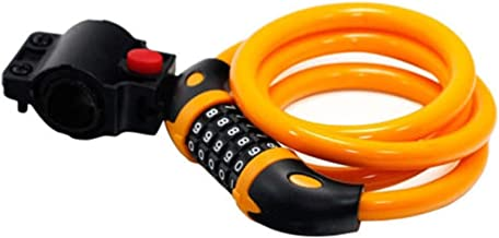 JQDMBH Bike Lock Bike Lock 5 Cijfer Code Combinatie Fiets Security Lock 1000 Mm X 12 Mm Stalen Kabel Spiraal Bike Fietsen ...