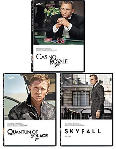 Film Collection Agent James Bond 22/23/24 Casino Royale 007 Quantum of Solace + Skyfall DVD Daniel Craig three films