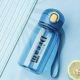 CYR Taza de Agua de Paja Saludable Taza de plástico portátil Creativa Deportes Estudiante de Verano Linda Taza práctica Regalo 600 ml,A,600ml