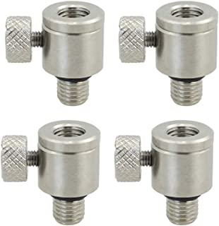 4 x Carp Fishing Quick Change Connector for Rod Pod Bank Sticks Buzzer Bars Stainless Steel