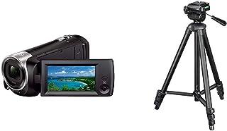ソニー SONY ビデオカメラ HDR-CX470 32GB 光学30倍 ブラック Handycam HDR-CX470 B12【Amazon限定ブランド】HAKUBA 三脚 4段 W-312 ブラック エディション 小型 3WAY雲台 アルミ...