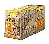 Gimdog superalimentos Meat Bones | luftgetrockneter Mono proteína Perros Snack de gallina Combina (Pack de 8, 8x 70g)