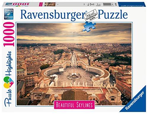 Ravensburger 14082 Rome, Puzzle 1000 Pezzi, Collezione Beautiful Skylines, Puzzle da Adulti, Paesaggi, Fotografia, Città, Roma