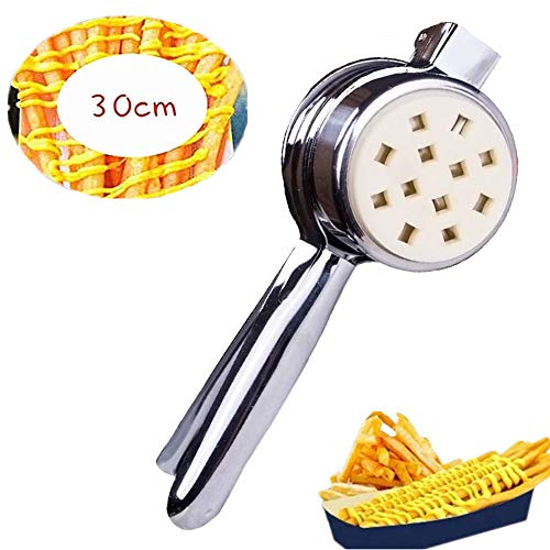 YJINGRUI Manuelle lange Pommespresse Pommespresse Fried Kartato Strips Squeezers 28 Zoll / 30 cm lang Pommesschneider Extruder für Haushalt/Gewerbe