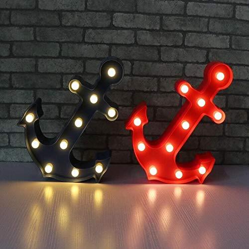 Neuheit Mittelmeer Boot Schiff Anker Blau Rot Festzelt Tür blinkt 3D LED Nachtlicht USB Tischlampe Kinder Geburtstagsgeschenk Nachtzimmer Dekoration