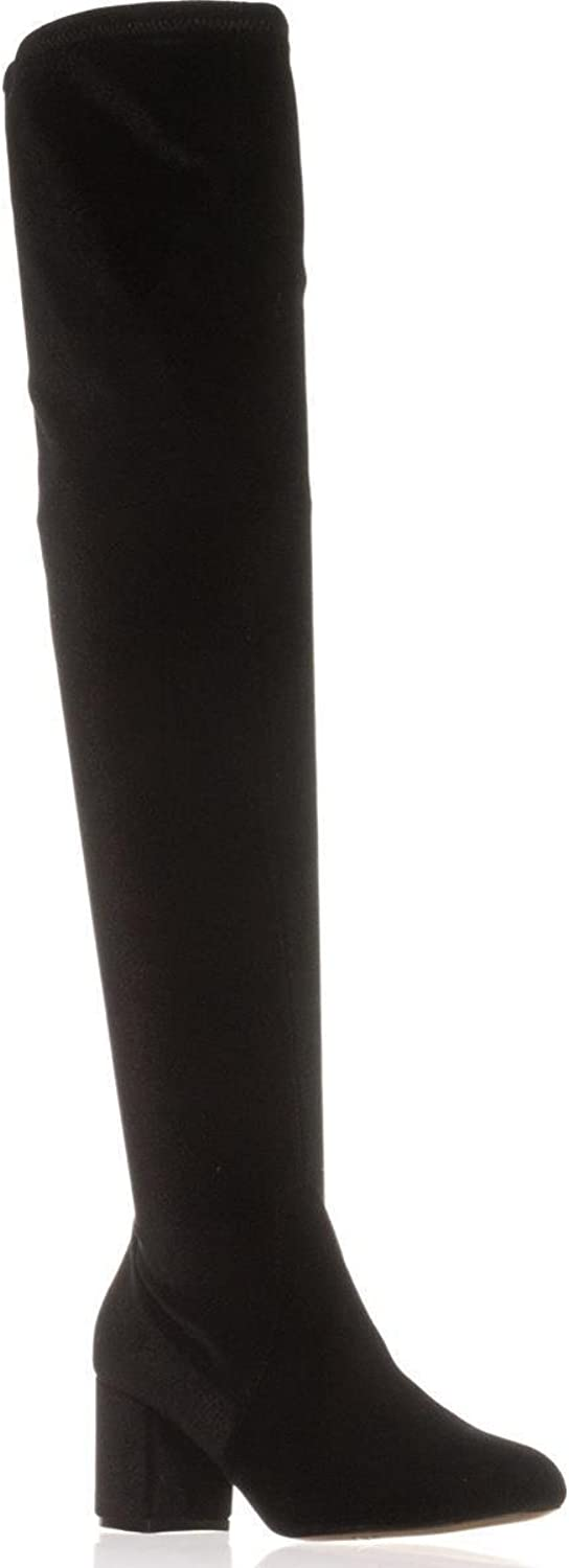 Inc Womens Rikkie Faux Suede Fashion Over-The-Knee Boots Black 5 Medium (B,M)