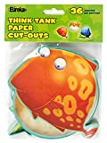 Eureka Think Tank Assorted Paper Cut-Outs, 12 Each of 3 Different Designs, 36-Piece