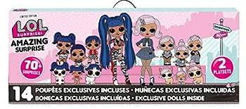 L.O.L Surprise! Amazing Surprise with 14 Dolls 70+ Surprises & 2 Playset Multicolor