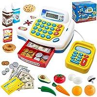 JOYIN Caja registradora de Juguete con calculadora y Accesorios Juguetes Supermercado Infantil Mercado