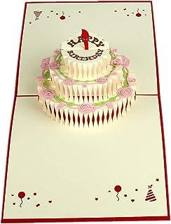 MUROAD Creative 3D Tarjeta de Felicitación para Cumpleaños -Tarjeta Emergente de Cumpleaños para Niños, Pop up Tarjeta