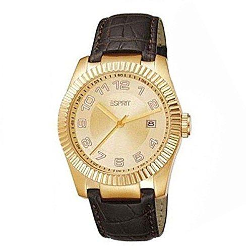Esprit Herren Analog Quarz Uhr mit Leder Armband ES103581003