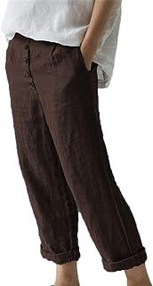 Amazon.it: Marrone Pantaloni Donna: Abbigliamento