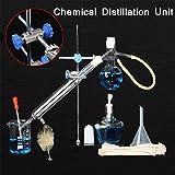XFY Unidad de Destilación Cristalería de Laboratorio, Hecha a Mano Cristalería de Laboratorio Ciencia Industrial Destilador, Equipo Químico de Laboratorio Box Set Equipo de Enseñanza