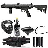 Maddog Tippmann Stormer Tactical Silver HPA Paintball Gun Marker Starter Package - Black