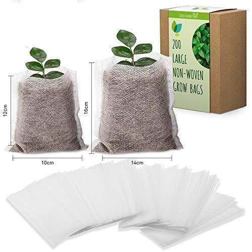 Bolsas biodegradables de Tela no Tejida para viveros, Bolsas Natural para Cultivo compostables y...