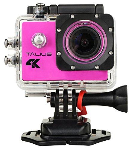 'Georgius sportcam-cámara Digital 8 MP (4 K, WLAN, HDMI, 2 LCD-display, CMOS), pink