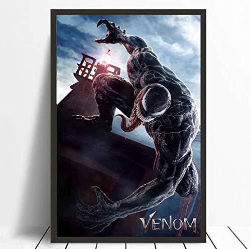 RUIYAN Leinwandbilder Wandbilder Bild 2018 Venom Movie Tom Hardy Comic Poster Drucken Mt59Z 40X60Cm Ohne Rahmen
