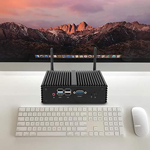 Taidda- Mini PC Procesador de Cuatro núcleos PC de Escritorio diseñado sin Ventilador Interfaz Completa de tamaño pequeño para escuelas de Juegos de Oficina en(European reg