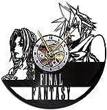 Final Fantasy 7 Vinyl Clock, Final Fantasy 7 Vinyl Record Wall Clock, Final Fantasy 7 Wall Clock, Vintage Gift, Home Decor, Gift for Her, Gift for Him