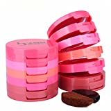FantasyDay Pro 5 Colors Compact Powder Blush/Cheek Blusher Makeup Palette Contouring Kit With Blush Brush Pressed Powder Baked Mineral Blush Set - Ideal Makeup Gift for Your Beloved One
