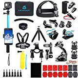 Homesuit 60-In-1アクションカメラGoproアクセサリーセットfor Gopro MAX, GoPro Hero 9 8 7 6 5カメラ4 3 3 2 1Black, SJ4000 SJ5000 SJ6000 SJ7000, DJI OSMO, DBPOWER, AKASO, Xiaomi,Yi APEMAN アクションカメラ