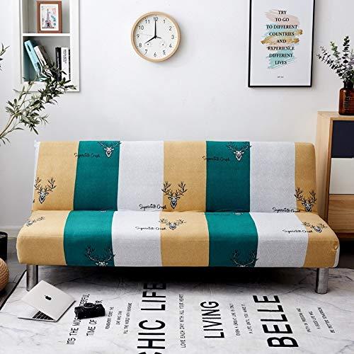 WBFN Slipcover, Tout Compris Pliant canapé-lit Couverture, Tissu Extensible Causeuse élastique, Tight Wrap Sofa Serviette Accoudoirs No Tight Wrap Sofa for Living Room