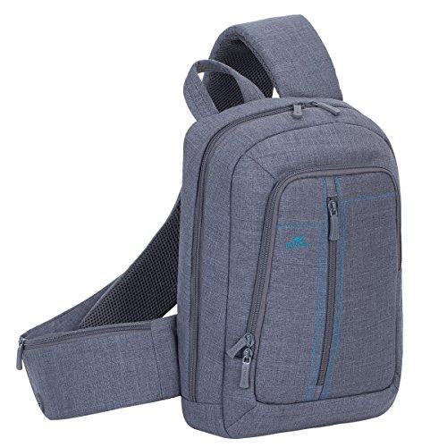 RivaCase 7529 Laptop Sling backpack 13.3' - Zaino monospalla per Laptop fino a 13.3', Grigio