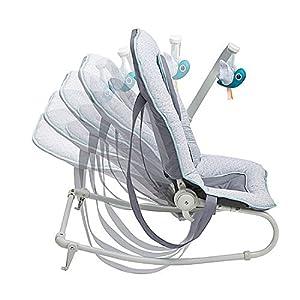 Babymoov A012433 Babywippe Graphik, 5-fach verstellbare Rückenlehne, abnehmbarer Spielbogen, mehrfarbig