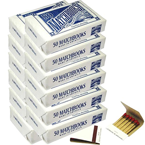 12 Boxes - 600 Matchbook Plain White Matches Matchbooks for Wedding Birthday Wholesale