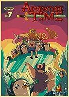 大人のための5Dダイヤモンド絵画キット、漫画の冒険時間、刺繡アートクラフトクロスステッチキットラインストーン壁の装飾部屋の装飾(正方形、40x50cm)