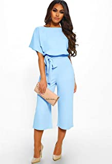 Long dress lace button short-sleeved jumpsuit slim S-XL women's spring and summer fashion wild