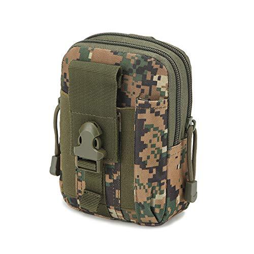 haoYK Bolsa táctica Molle compacta al aire libre multiusos utilidad Gadget herramienta cinturón cinturón bolsa paquete caja del teléfono móvil Bum bolsa con cremallera AOR2