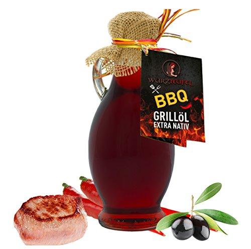 BBQ - Grillöl, Hot Barbecue Grill Öl mit natürlichem Hickory - Rauchgeschmack, aus Nativem, Extra Vergin Olivenöl, Griechenland. Ungefiltert. Kaltgepresst. AMPHORE IRGIZIA - Flasche 250ml.