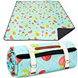 Machine Washable Picnic Blanket 79'X79' Extra Large Beach Blanket, Easy Carry Foldable Light Weight Camping Blanket, Picnic Mat for Travel/ Ground/Grass/Hiking