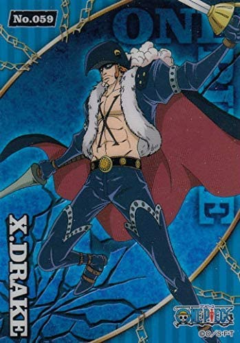 m u hi No 59 X Drake One Piece Clear Card Collection Gum Blue product image