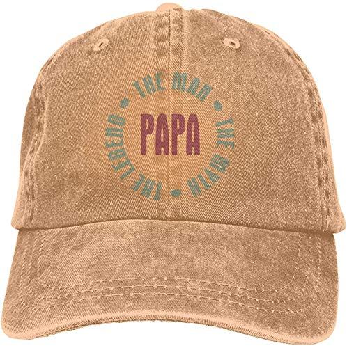 Womens&Men Unisex Comfortable Papa Man Myth Legend Caps Adjustable Strapback