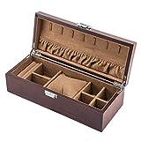 Caja de colección de Almacenamiento de Pulsera de joyería de Reloj de joyero de Madera