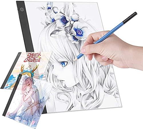 A3 Mesa de Luz para Dibujar, Mesa de Dibujo Portátil con Cable USB para Pintura de Diamantes, Dibuja y Animación (A3)
