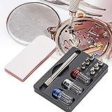 Kit de herramientas de reparación de correa de correa de reloj, aguja de reloj de metal Reloj de mano Pernos de reloj de mano Juego de extracción Herramienta de elevación de tira