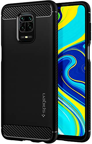 Spigen Rugged Armor Designed for Xiaomi Redmi Note 9 Pro Max/Note 9S / Note 9 Pro/Poco M2 Pro Case (2020) - Matte Black