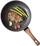 TTZY Sartén Sartén, Piedra sartenes Utensilios de Cocina Antiadherente de Revestimiento, sartenes de inducción cacerolas Tortilla sartén, 22 * 4.6cm SHIYUE (Size : 22 * 4.6CM)