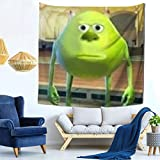 jkhhy Mike Wazowski with Sully Face Meme Home Art Deco Tapestry Bedroom Living Room Tapestry Outdoor Picnic Blanket Beach Blanket 59 in X 59 in